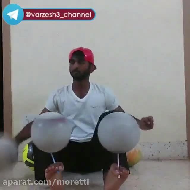 هنر نمایی خیره کننده با 5 توپ