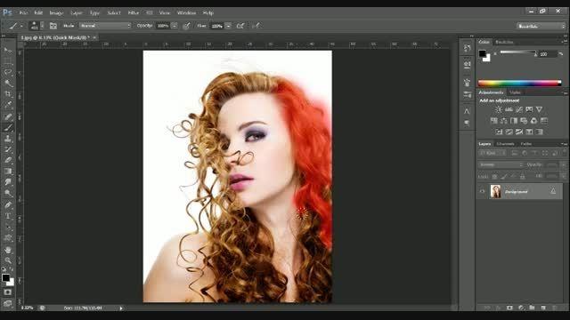 آموزش تغییر رنگ مو با فتوشاپ به دو روش