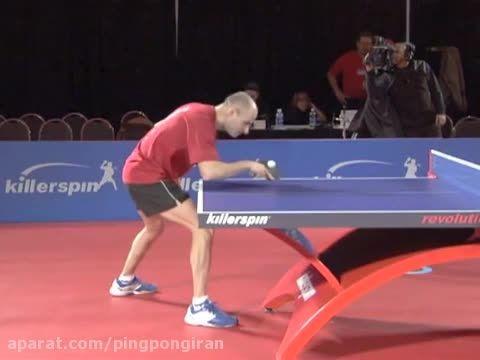آموزش پینگ پنگ بک هند پوش یا کات بک هند در تنیس روی میز