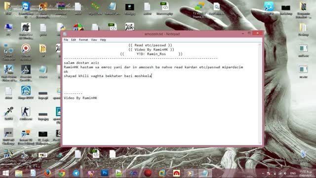 خواندن فایلpasswd با روشن بودن SafeMode