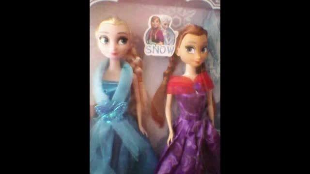 عروسک های آنا السا باربی وبرتز خودم