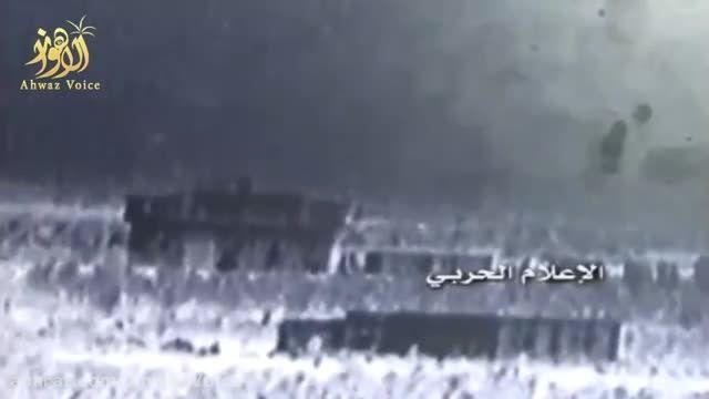لحظه منفجر کردن قرارگاه تروریستها توسط ارتش سوریه