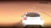 مانور مهیج Mercedes Benz A45 AMG در صحرای آفریقا