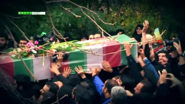 تشییع پیکر مدافع حرم شهید امین کریمی