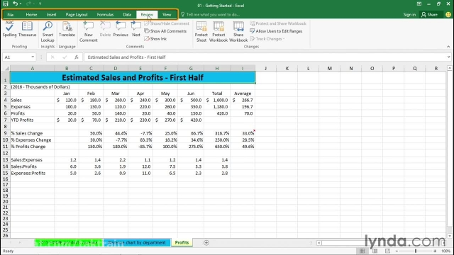 دانلود فیلم آموزش Excel 2016 از Lynda