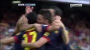 بارسلونا vs مالاگا | 1 - 0 | گل داوید ویا