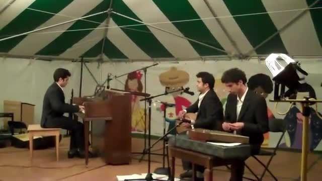اجرای آهنگ محشر هزار دستان با پیانو و سنتور و تنبک