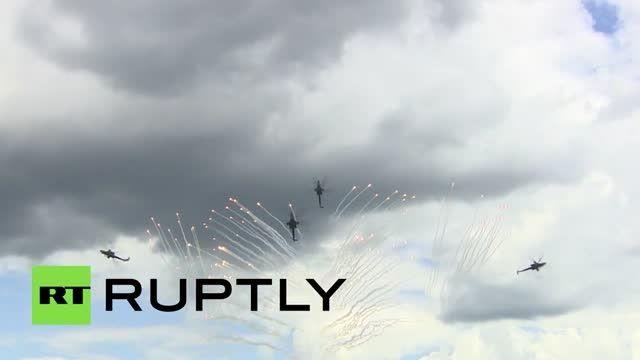 سقوط یک هلیکوپتر پیشرفته نظامی برخورد با زمین در روسیه