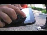 تست مقاومت تبلت های Motorola Xoom and iPod2 and Samsung Galaxy Tab در برابر ضربه