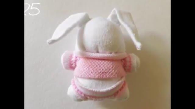 با جوراب هایتان عروسک بسازید