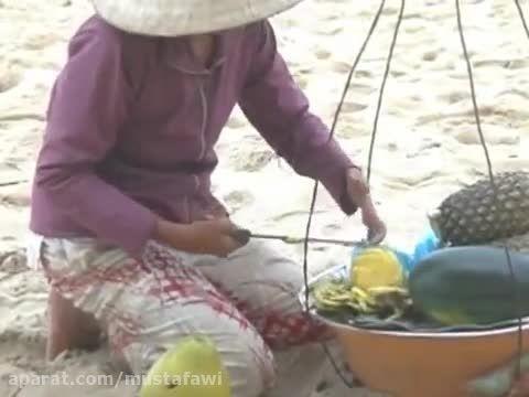 آموزش پوست کندن سریع آناناس (1)