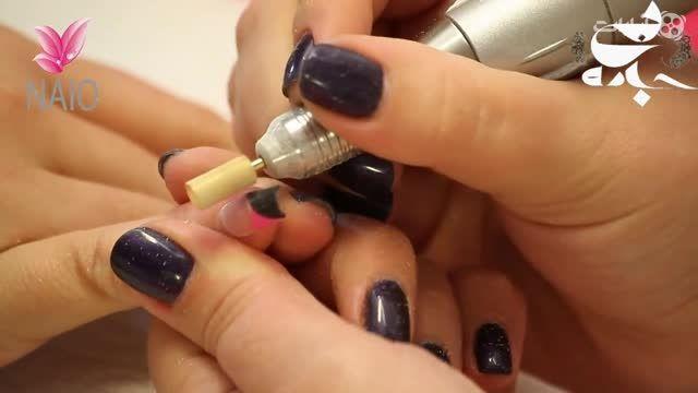 کلیپ آموزش طراحی ناخن - سیاه و نقره ای