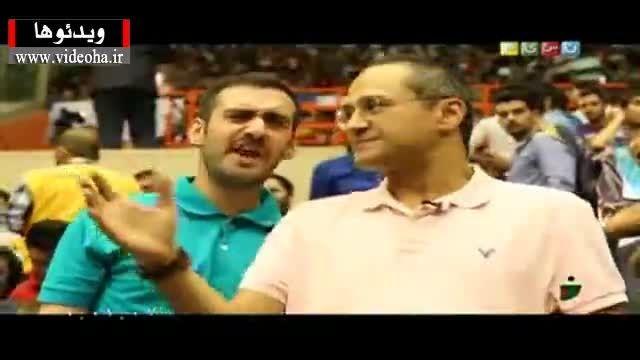 گزارشی از حضور خندوانه در بازی والیبال ایران و آمریکا