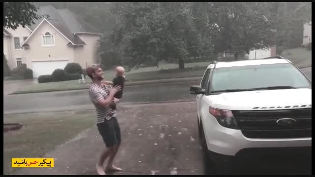 A special moment for a baby