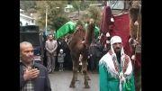 کاروان نمادین شهدا و اسرای کربلا  در شهر زیراب