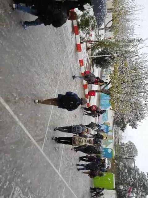 بارش برف در اقلید اولین برف پاییزی سال 94 مدرسه فرهنگیا