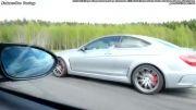 درگ مرسدس بنز C63 AMG black series و BMW M3 کوپه