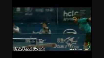امتیازات دیدنی نوشاد عالمیان در مسابقات تنیس روی میز