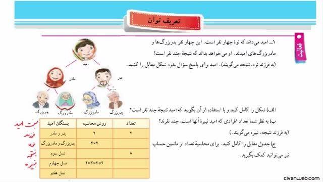 حل فعالیت 1 و 2 صفحه 84 کتاب ریاضی پایه هفتم