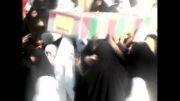 تشییع شهدای گمنام شهرستان ورزنه