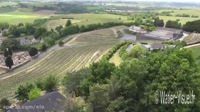 Vidéo aérienne du Vignoble du Layon à St Aubin de Luign