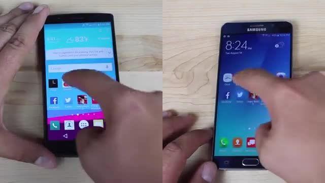 مقایسه سرعت LG G4 Vs Note 5