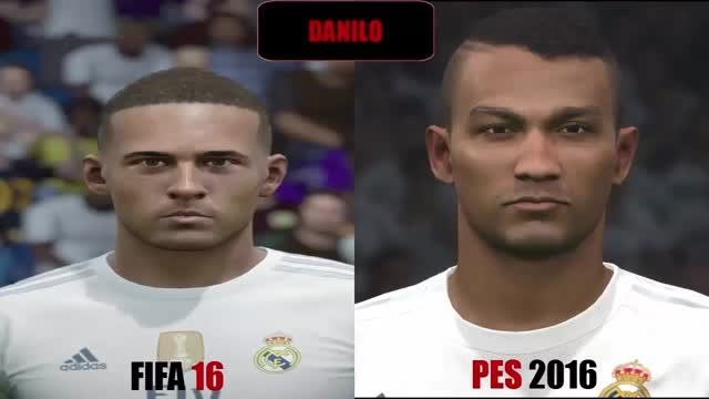 تفاوت چهره بازیکنان رئال مادرید در Pes 2016 و Fifa 2016