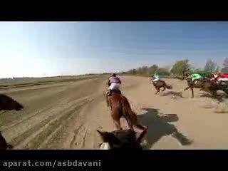 رقابت مسابقه حرفه ای اسبدوانی از دید چابکسوار با GoPro
