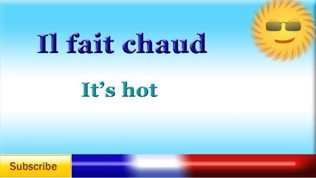 آموزش وضعیت آب و هوا در زبان فرانسه