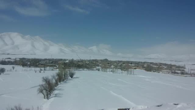 برف زمستانی روستای ورچه