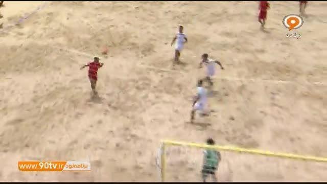 خلاصه فوتبال ساحلی: اسپانیا ۵-۶ ایران