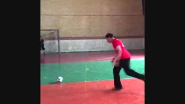 ضربه آزاد استثنایی رضا نصیری 15 ساله،آینده فوتبال ایران