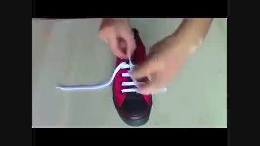 زیباوپیشرفته ترین و پیچیده ترین روش بستن بند کفش