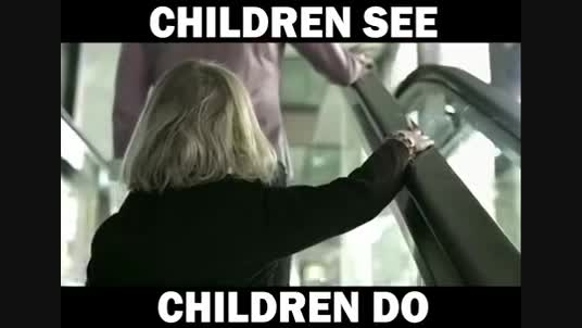 بچه ها می بینند و انجام می دهند