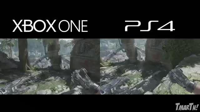 Xbox One vs Playstation 4 مقایسه گرافیک