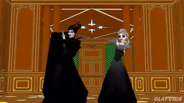 السا شیطانی و مالیفیسنت میرقصند!!