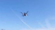 تست پرواز ربات پرنده کوادروتور با موتور EMAX MT3510
