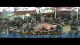 خروج هیئت امام حسن مجتبی علیه السلام از میدان تعزیه روستای نشلج - تاسوعا 1391