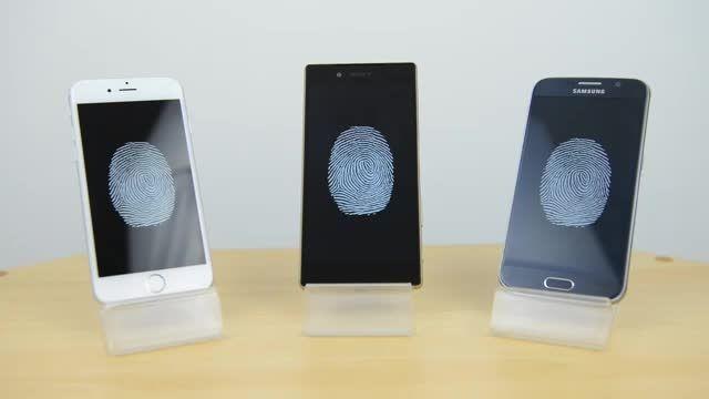 حسگر اثر انگشت iPhone 6s vs Xperia Z5 vs Galaxy S6