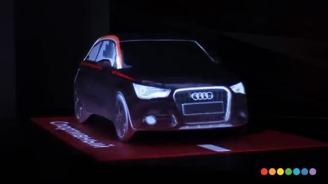 نور پردازی سه بعدی و خارق العاده Audi A1
