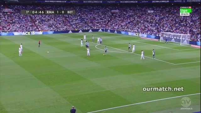 خلاصه بازی رئال مادرید 5 - 0 رئال بتیس (هفته 2 لالیگا)