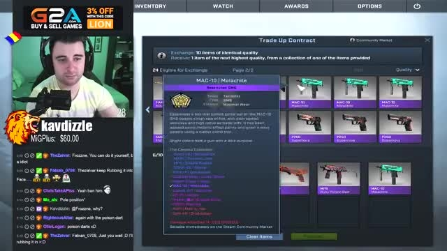 CS GO Trade Up to reds and pinks item