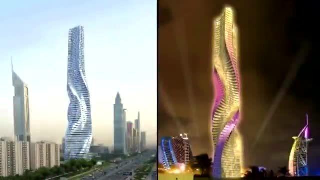 برج های متحرک در دبی.........