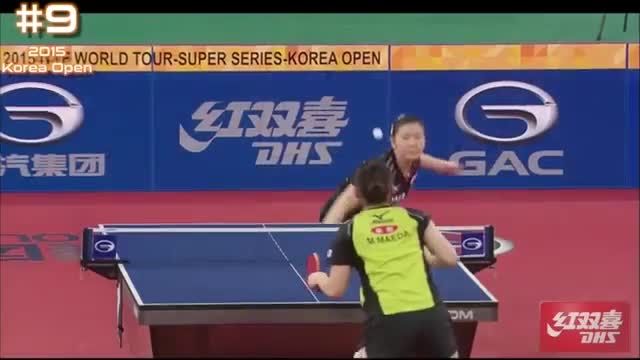 رالی های زیبای پینگ پنگ مردان و زنان مسابقات اوپن کره