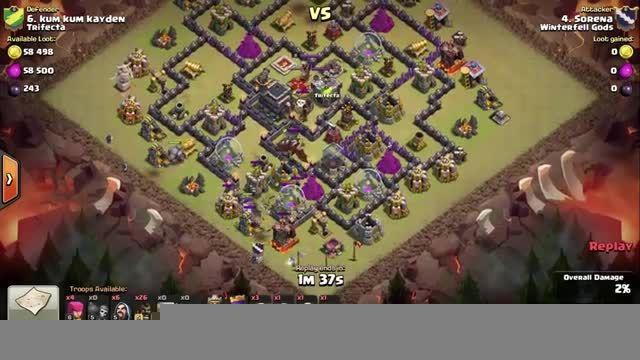 Clash of Clans - TH9 - GoHo - War 84 vs Trifecta - Sore
