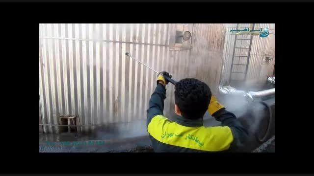 جت واتر صنعتی نظافت صنایع پلیمر-رسوب زدایی سریع