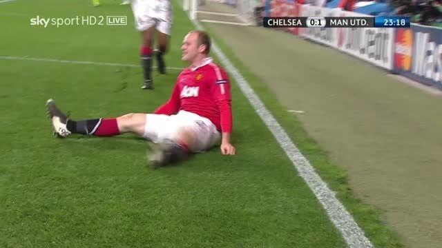 گل وین رونی به چلسی - یک چهارم نهایی لیگ قهرمانان 2011