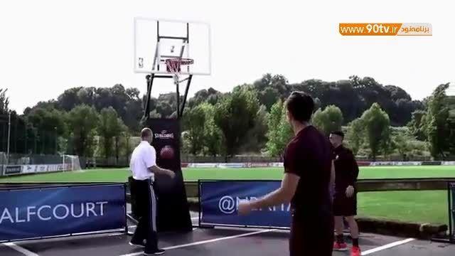 چالش جذاب بسکتبال بازیکنان آ اس رم