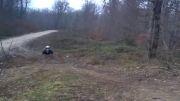 پرش با موتور هوندا ازروی تپه موتورکراس