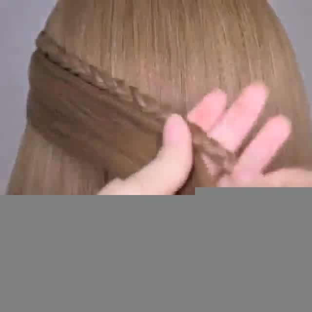 بافت موی پشت سر زیبا در تار مو